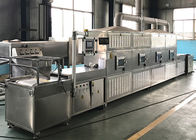 SS Tunnel Microwave Drying Machine 10 - 200KW Power Large Dehydration Capacity