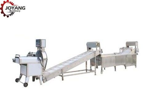 Industrial Food Automatic Potato Chips Making Machine Stainless Steel Body Materials